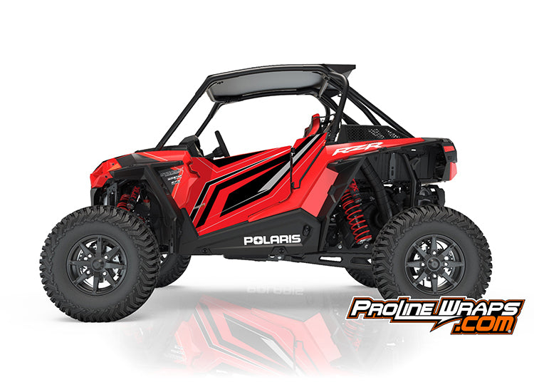 2018 Polaris RZR XP Turbo S EPS Two Door Indy Red Factory Graphic Kit