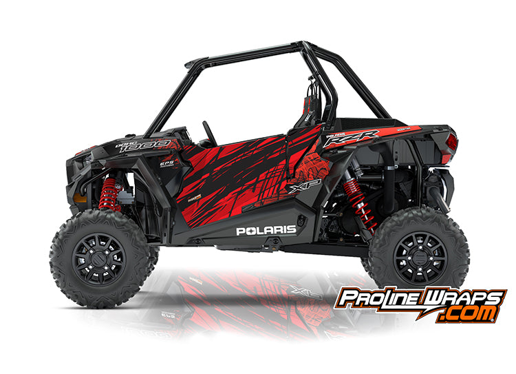 2018 Polaris RZR XP 1000 EPS Two Door Factory Graphic Kit Black Pearl