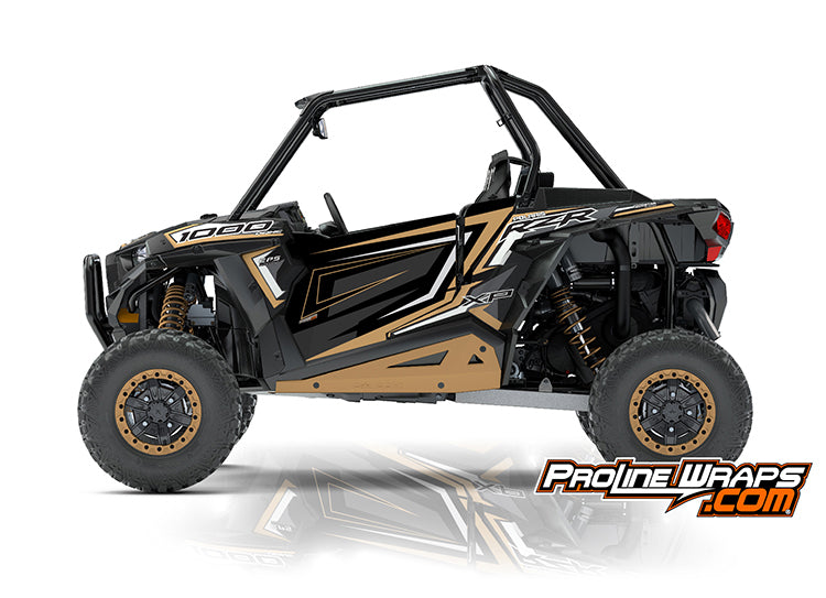 2018 Polaris RZR XP 1000 EPS Two Door Factory Door Graphic Kit Gold Matte Metallic
