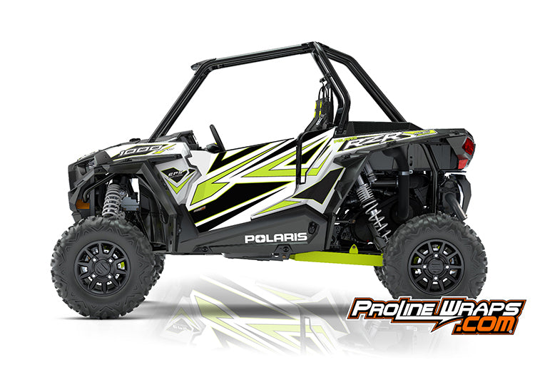 2018 Polaris RZR XP 1000 EPS Two Door Factory Graphic Kit White Lightning