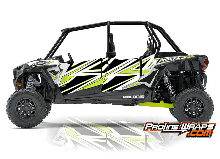 2018 Polaris RZR XP 4 1000 EPS Four Door Factory Graphic Kit White Lightning