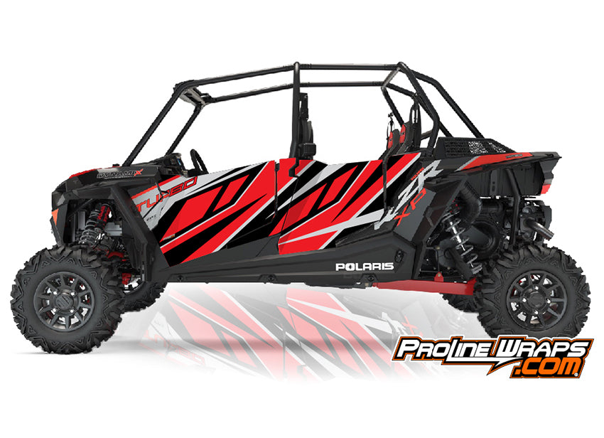 2018 Polaris RZR XP 4 Turbo EPS Four Door Factory Graphic Kit Dynamix Edition
