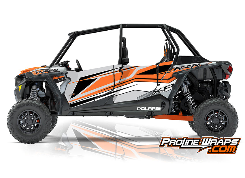 2018 Polaris RZR XP 4 Turbo EPS Four Door Factory Graphic Kit Ghost Gray