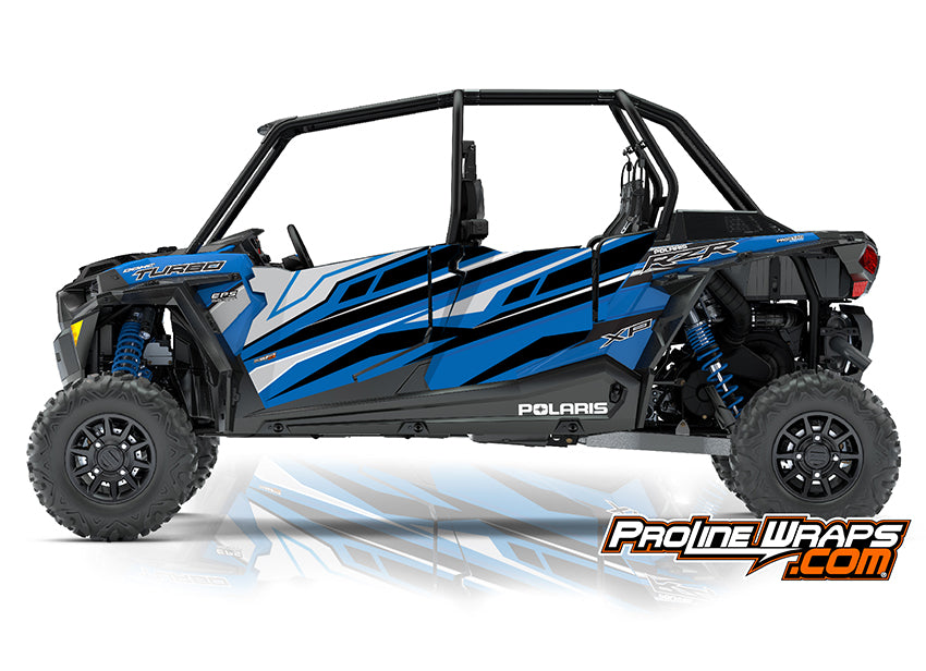 2018 Polaris RZR XP 4 Turbo EPS Four Door Factory Graphic Kit Velocity Blue