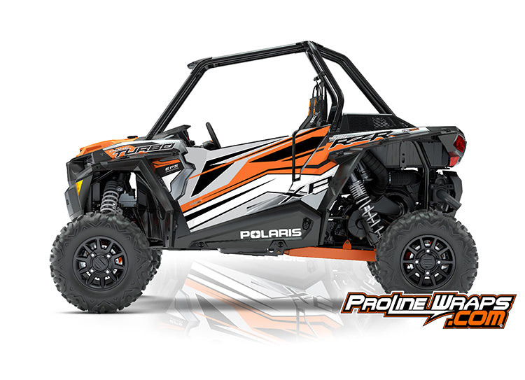2018 Polaris RZR XP Turbo EPS Two Door Factory Door Graphic Kit Ghost Gray