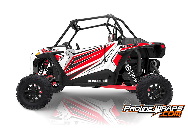 2019 Polaris RZR XP 1000 EPS Two Door Factory Graphic Kit Dynamix White Lightning
