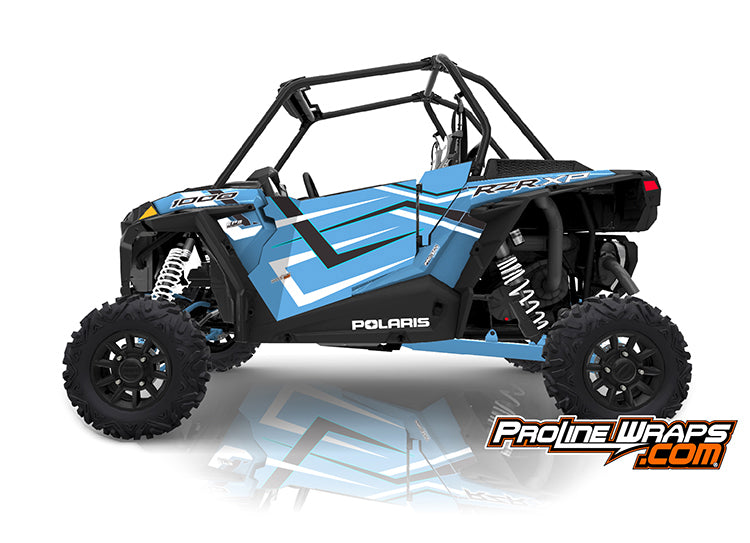 2019 Polaris RZR XP 1000 EPS Two Door Factory Graphic Kit Ride Command Sky Blue