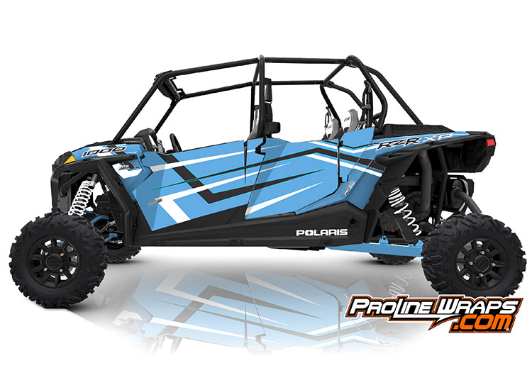 2019 Polaris RZR XP4 1000 EPS Four Door Factory Graphic Kit Ride Command Sky Blue