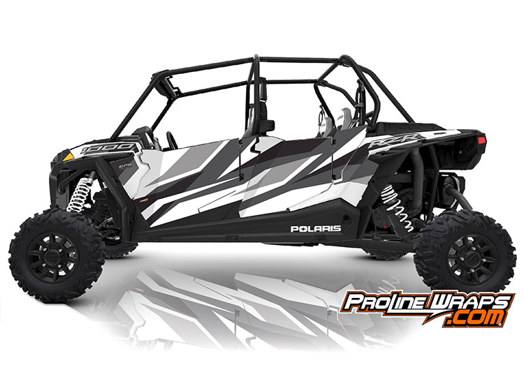 2019 Polaris RZR XP4 1000 EPS Four Door Factory Graphic Kit Ride Command White Pearl
