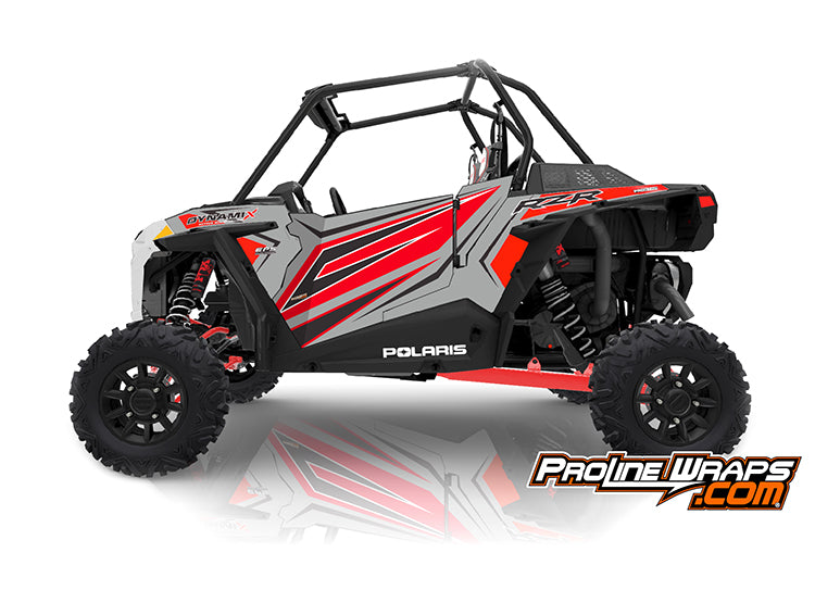 2019 Polaris RZR XP Turbo EPS Two Door Factory Graphic Kit Dynamix Ghost Gray