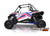 2019 Polaris RZR XP Turbo EPS Two Door Factory Graphic Kit White Lightning LE