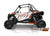 2019 Polaris RZR XP Turbo EPS Two Door Factory Graphic Kit Matte White Pearl with Orange Rust