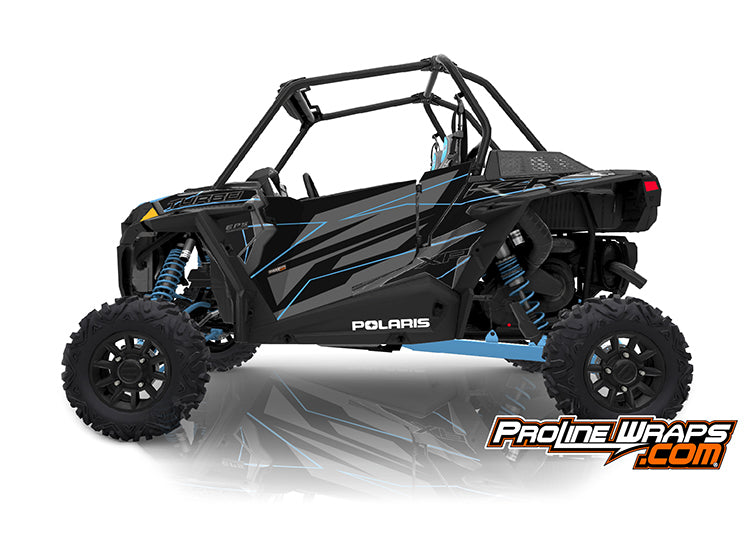 2019 Polaris RZR XP Turbo EPS Two Door Factory Graphic Kit Titanium Metallic