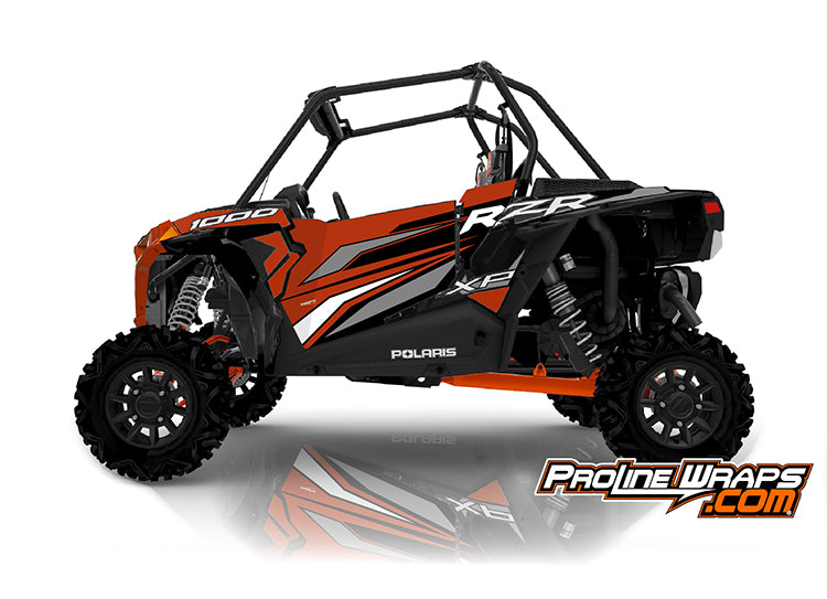 2020 Polaris RZR XP 1000 EPS Two Door Factory Graphic Kit Orange Rust
