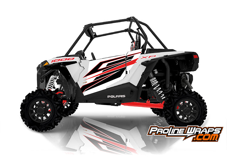 2020 Polaris RZR XP 1000 EPS Two Door Factory Graphic Kit White Lightning