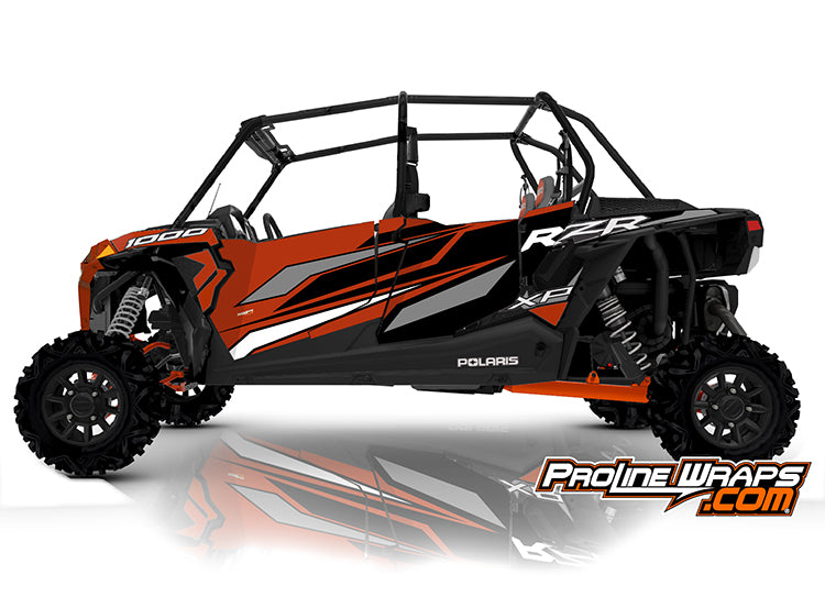 2020 Polaris RZR XP4 1000 EPS Four Door Factory Graphic Kit Orange Rust
