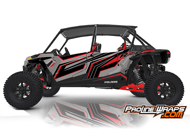 2020 Polaris RZR XP4 Turbo S EPS Four Door Factory Graphic Kit Ghost Gray