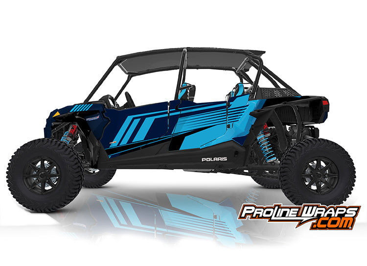2020 Polaris RZR XP4 Turbo S EPS Four Door Factory Graphic Kit Matte Navy
