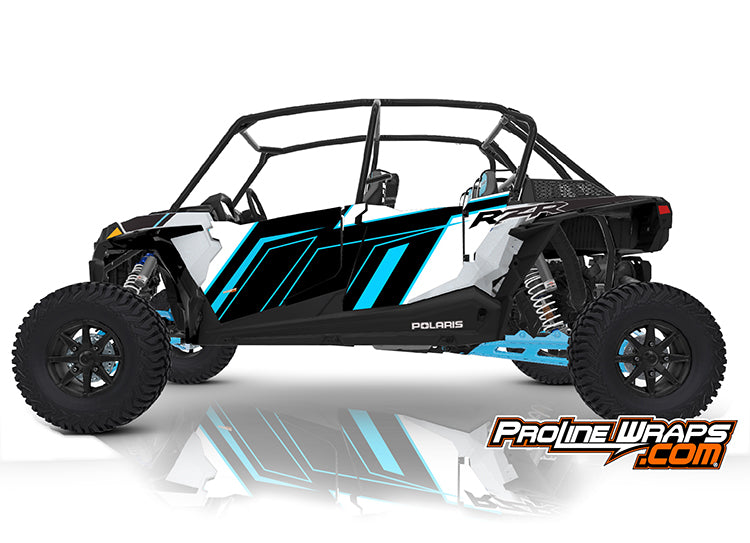 2020 Polaris RZR XP4 Turbo S Velocity EPS Four Door Factory Graphic Kit Matte White
