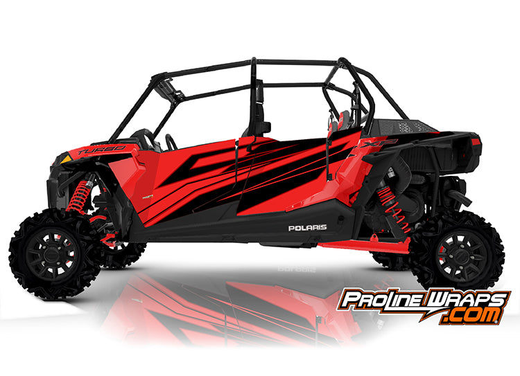 2020 Polaris RZR XP4 Turbo EPS Four Door Factory Graphic Kit Indy Red