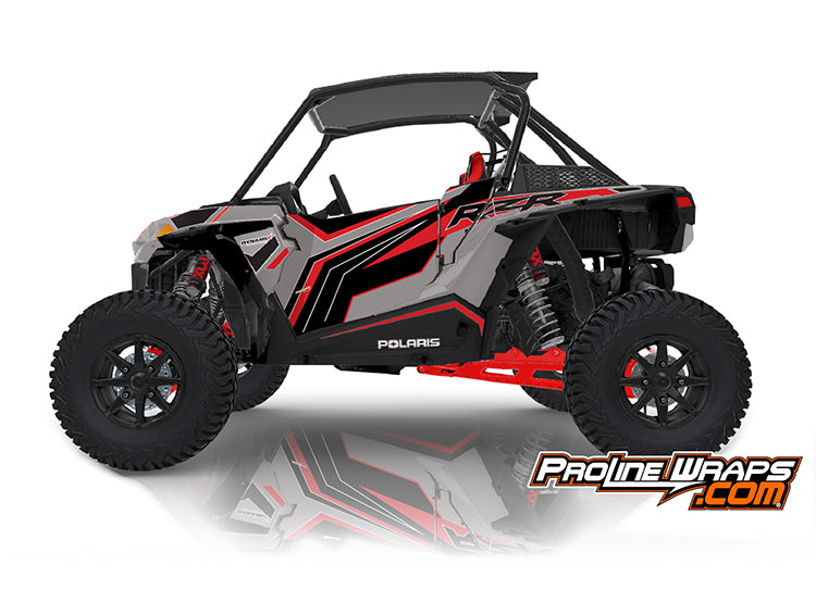 2020 Polaris RZR XP Turbo S EPS Two Door Factory Graphic Kit Ghost Gray