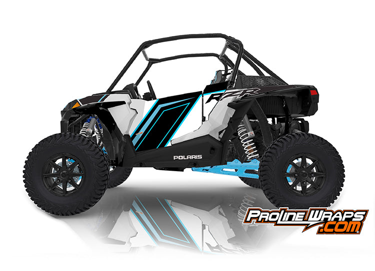 2020 Polaris RZR XP Turbo S Velocity EPS Two Door Factory Graphic Kit Matte White