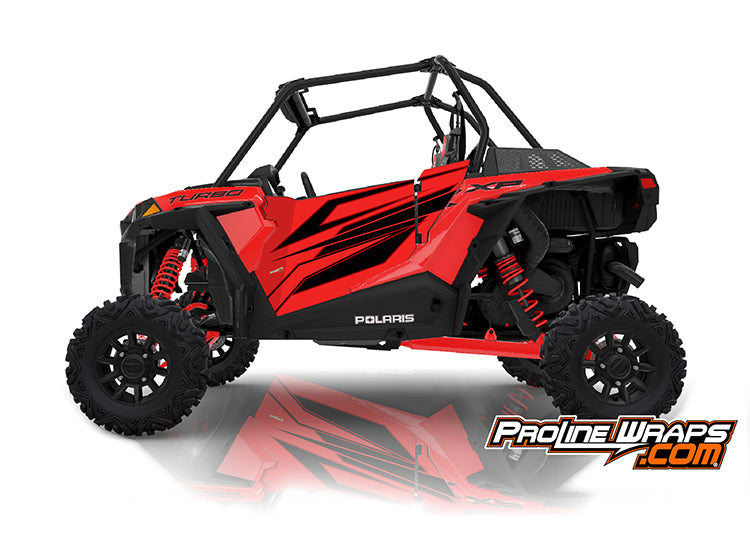 2020 Polaris RZR XP Turbo EPS Two Door Factory Graphic Kit Indy Red