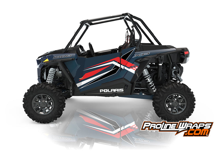 2021 Polaris RZR XP 1000 Premium Two Door Factory Graphic Kit Matte Navy