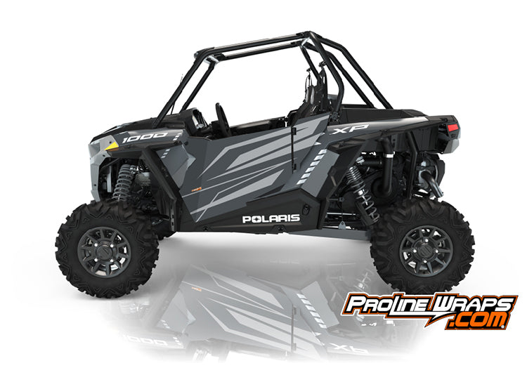 2021 Polaris RZR XP 1000 Premium Two Door Factory Graphic Kit Stealth Gray