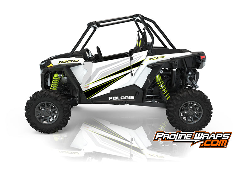 2021 Polaris RZR XP 1000 Sport Two Door Factory Graphic Kit White Lightning