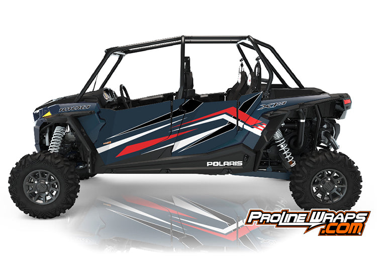 2021 Polaris RZR XP4 1000 Premium Four Door Factory Graphic Kit Matte Navy