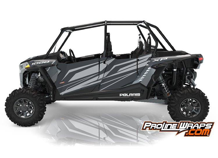 2021 Polaris RZR XP4 1000 Premium Four Door Factory Graphic Kit Stealth Gray