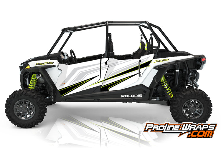 2021 Polaris RZR XP4 1000 Sport Two Door Factory Graphic Kit White Lightning