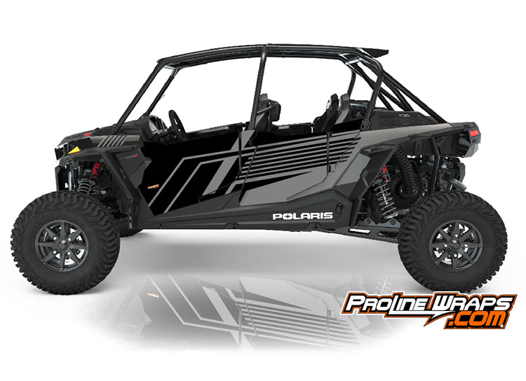 2021 Polaris RZR XP4 Turbo S Four Door Factory Graphic Kit Onyx Black