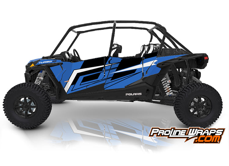 2021 Polaris RZR XP4 Turbo S Four Door Factory Graphic Kit Radar Blue