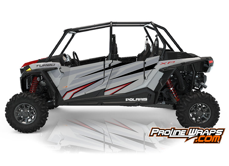 2021 Polaris RZR XP4 Turbo Four Door Factory Graphic Kit Ghost Gray