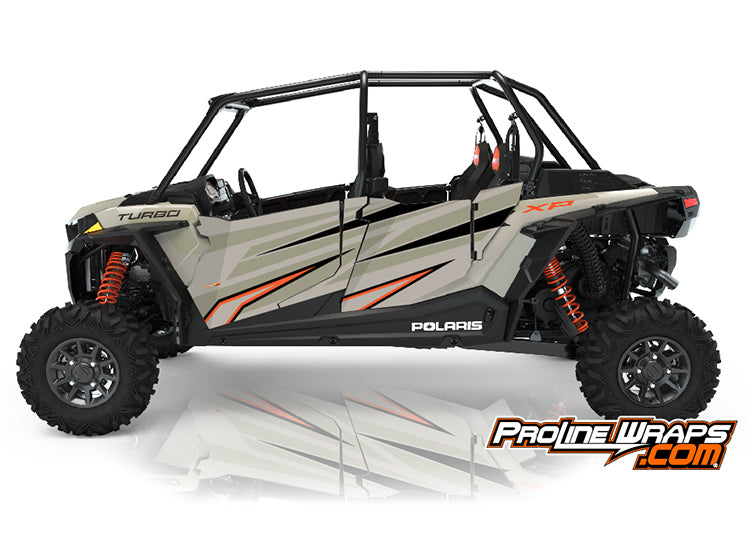 2021 Polaris RZR XP4 Turbo Four Door Factory Graphic Kit Matte Sands Metallic