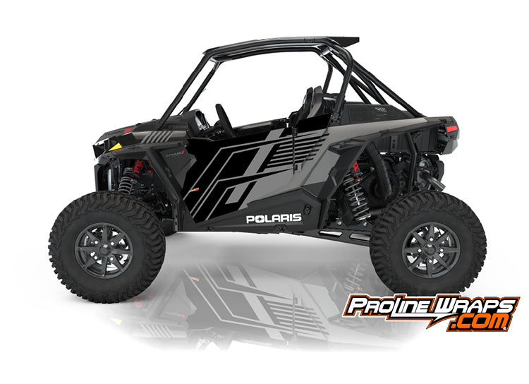 2021 Polaris RZR XP Turbo S Two Door Factory Graphic Kit Onyx Black
