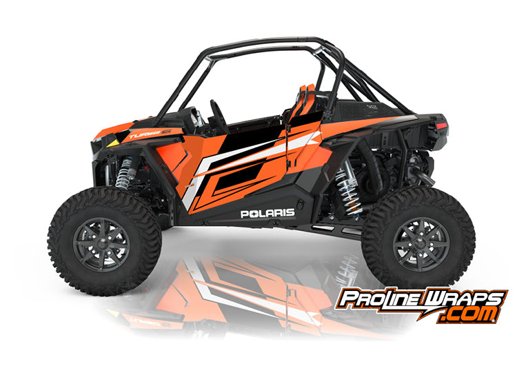 2021 Polaris RZR XP Turbo S Two Door Factory Graphic Kit Orange Madness