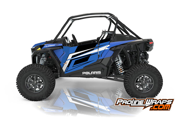2021 Polaris RZR XP Turbo S Two Door Factory Graphic Kit Radar Blue