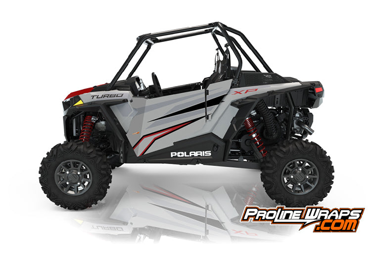 2021 Polaris RZR XP Turbo Two Door Factory Graphic Kit Ghost Gray