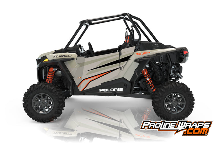 2021 Polaris RZR XP Turbo Two Door Factory Graphic Kit Matte Sands Metallic