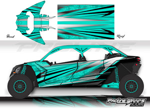 Proline Wraps Series Graphics - Granite - Can-Am Maverick X3 - 4 Door