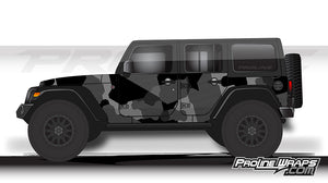 Proline Wraps - Jeep Wrangler JK Wrap Kit 4DR - Bravo