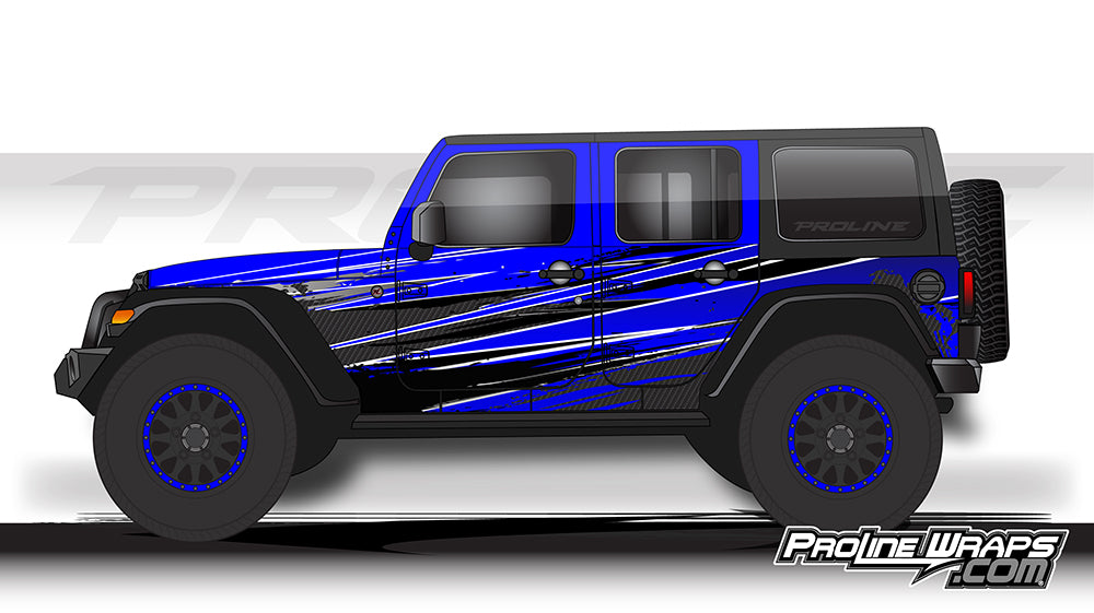 Proline Wraps - Jeep Wrangler JK Wrap Kit 4DR - Burn