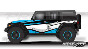 Proline Wraps - Jeep Wrangler JK Wrap Kit 4DR - Cliff