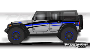 Proline Wraps - Jeep Wrangler JK Wrap Kit 4DR - Grade
