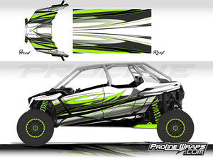 Proline Wraps Series Graphics - Blaze - Polaris RZR Pro XP4