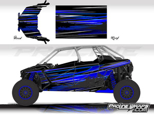 Proline Wraps Series Graphics - Burnout - Polaris RZR Pro XP4