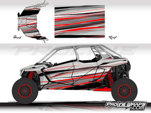 Proline Wraps Series Graphics - Graphite - Polaris RZR Pro XP4